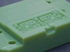 3Dプリンタ-で造形した仮型 ・方式:MJ ・材質:Digital-ABS